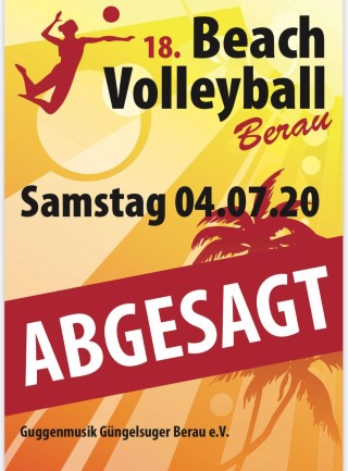 Absage Beachvolleyball 2020
