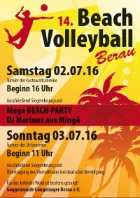 Beachvolleyball Turnier 2016
